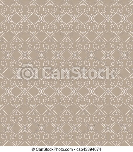 Seamless background image of spiral heart cross dot line. - csp43394074