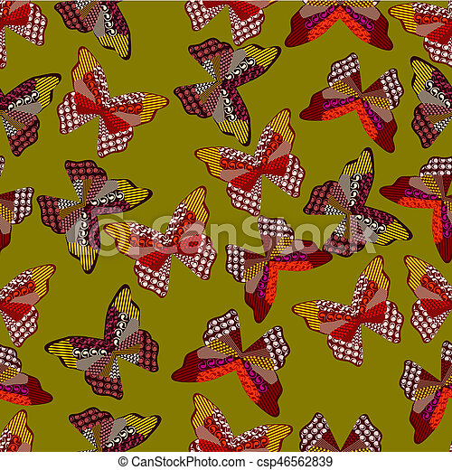 Seamless background of leaves 4 - csp46562839