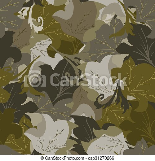 Seamless background of leaves - csp31270266