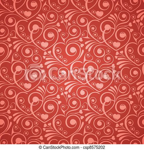 Seamless background on Valentine's Day - csp8575202