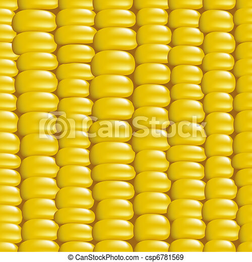 Seamless background with a grain of corn. Vector illustration. - csp6781569