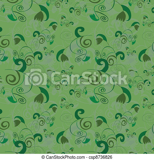 Seamless background with abstract p - csp8736826