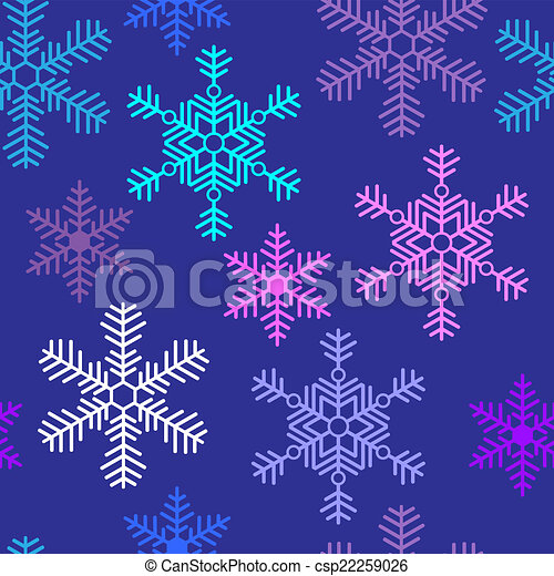 Seamless background with beautiful snowflakes Christmas - csp22259026