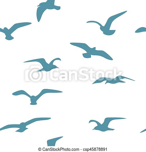 Seamless background with birds - csp45878891