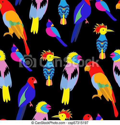 View Paradise Parrots / Tropical Birds Vector Clipart Design