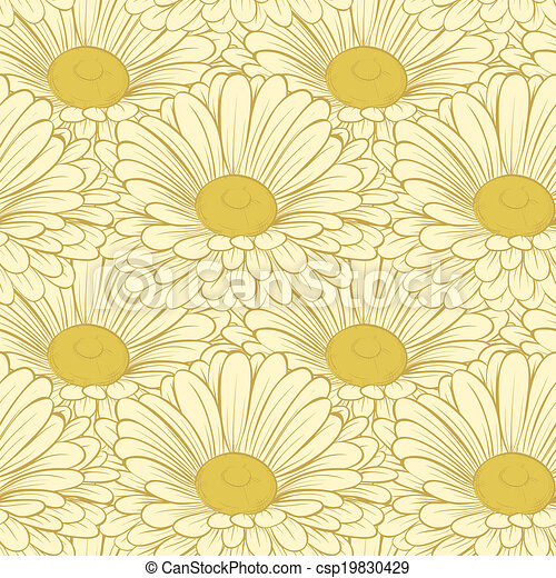 seamless background with flowers. - csp19830429