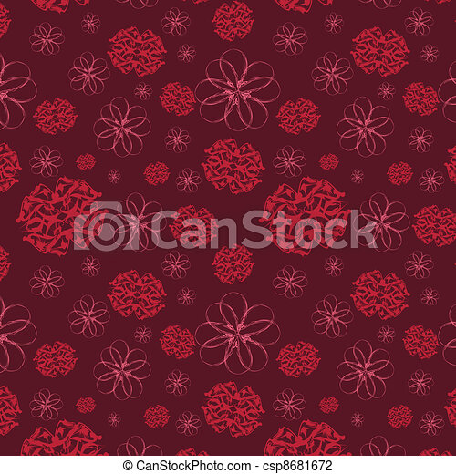 Seamless background with flowers - csp8681672