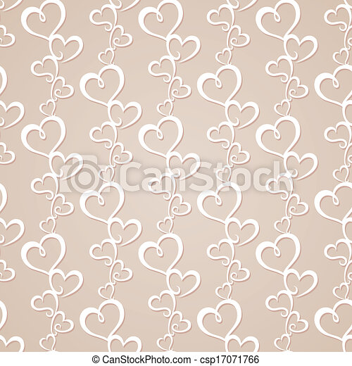 Seamless background with hearts - csp17071766