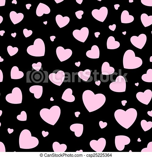 Seamless background with hearts - csp25225364