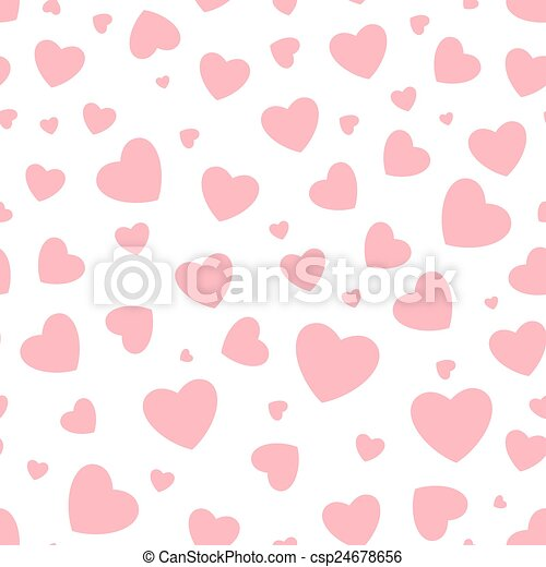 Seamless background with hearts - csp24678656