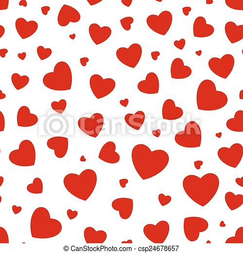 Seamless background with hearts - csp24678657