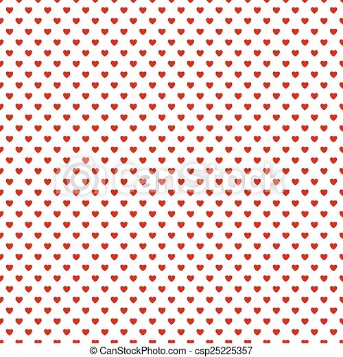 Seamless background with hearts - csp25225357