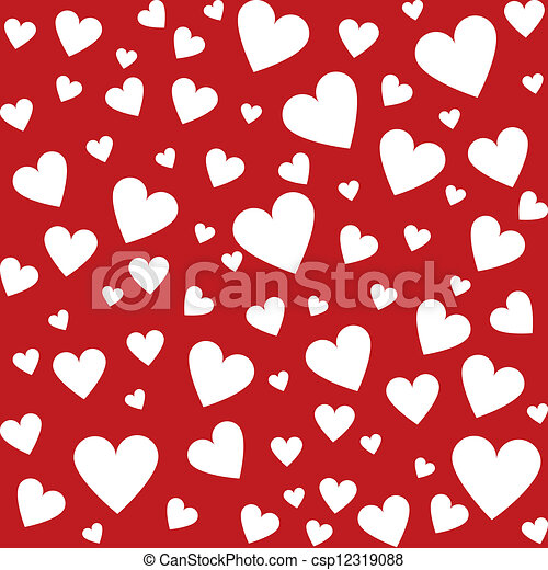 seamless background with hearts - csp12319088