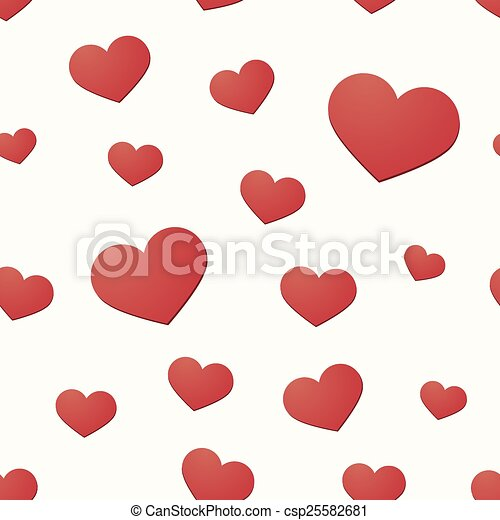 Seamless background with hearts - csp25582681