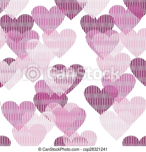 seamless background with hearts - csp28321241