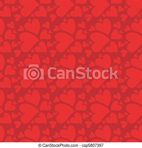 seamless background with hearts - csp5807397