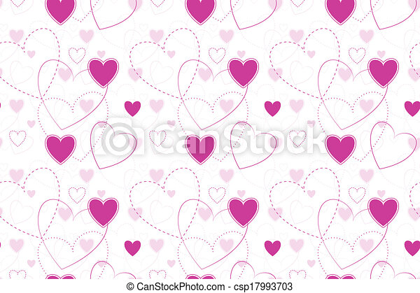 Seamless Background with Hearts - csp17993703