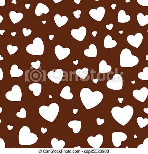Seamless background with hearts - csp25523908