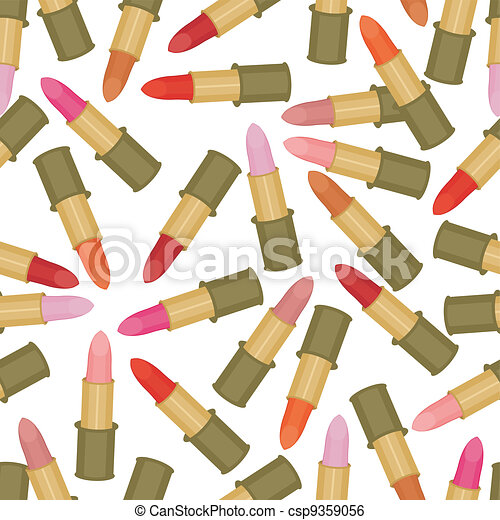 seamless background with lipstick - csp9359056
