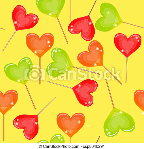 Seamless background with multi-coloured candy - csp8040291