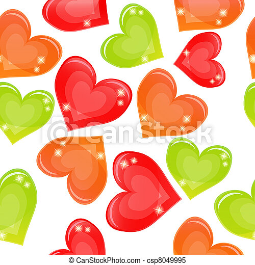 Seamless background with multi-coloured candy - csp8049995