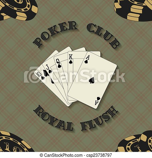 Seamless background with poker card - csp23738797