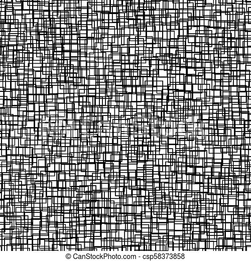 Seamless background with squares. Modern minimalistic style. One color black on white. Geometric pattern. - csp58373858