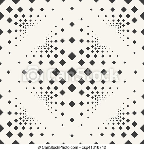 Seamless background with squares on a beige background. - csp41818742