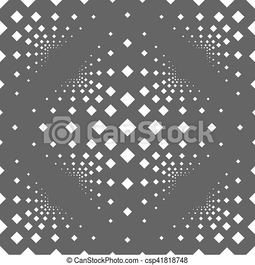 Seamless background with squares on a gray background. - csp41818748