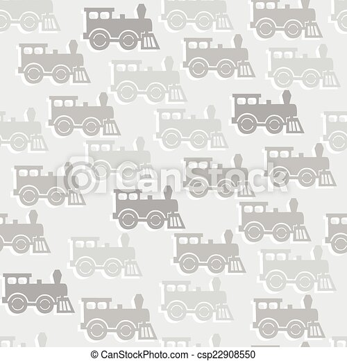 seamless background with steam locomotives. - csp22908550