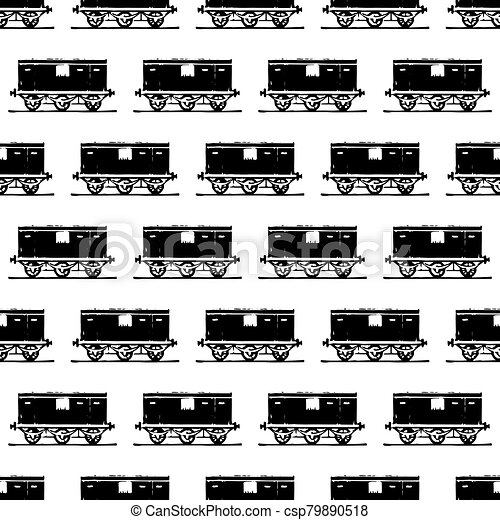 seamless background with steam colorful locomotives. - csp79890518