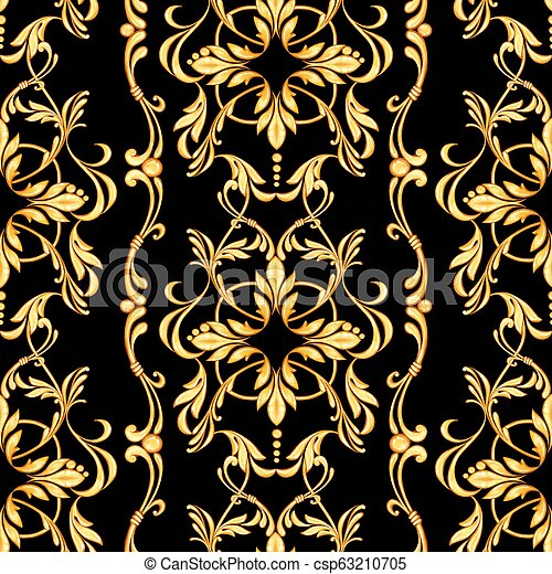 Seamless baroque pattern - csp63210705