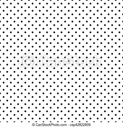seamless black and white polka dot pattern background rh canstockphoto com vector dot pattern free download halftone dot pattern vector