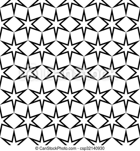 Seamless Black And White Star Pattern   Csp32140930