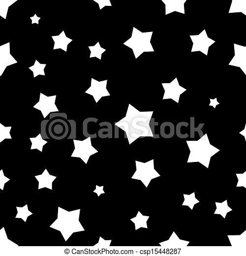 Seamless Black And White Stars Pattern