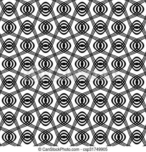 Seamless Black And White Swirl Pattern Seamless Black And White