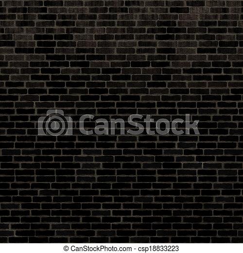 seamless black wall texture. Seamless Black Brick Wall - Csp18833223 Texture R