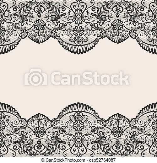 seamless black lace horizontally seamless black lace background rh canstockphoto com lace vector png lace vector ai