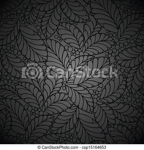 Seamless black royal wallpaper - csp15164653