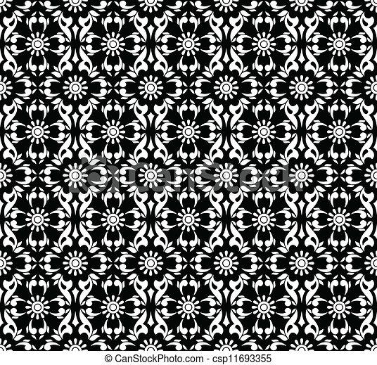 Seamless black wallpaper - csp11693355