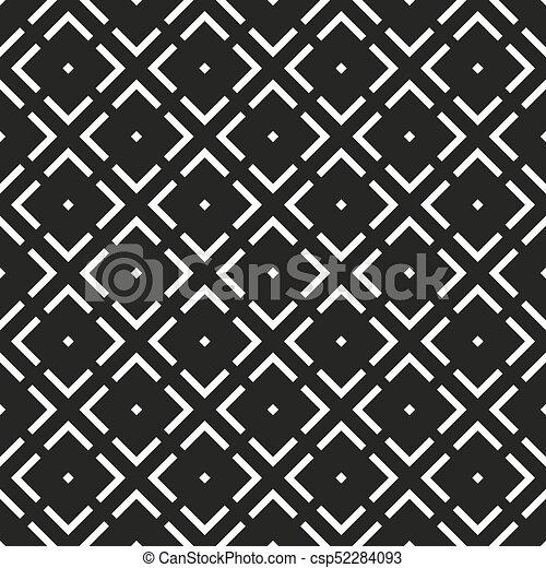 Seamless Black White Geometric Pattern