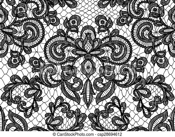 seamless blue lace seamless black lace background with floral pattern rh canstockphoto com lace vector background lace vector free download