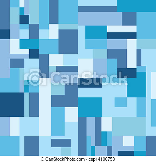 seamless blue tone square rectangle background vector