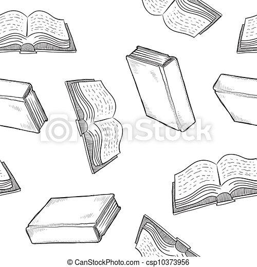 Seamless book background - csp10373956