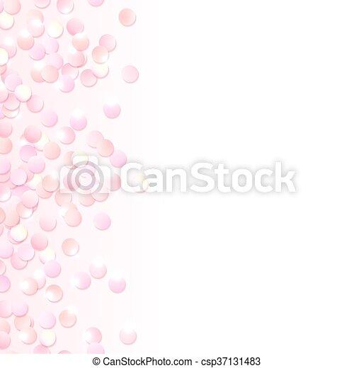 Vector of Seamless border of pink realistic confetti, design ...