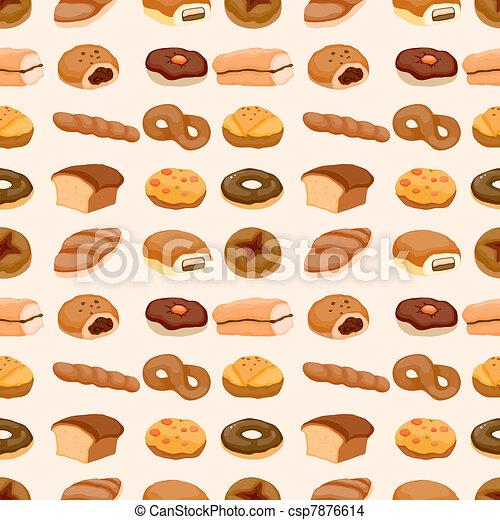 seamless bread pattern - csp7876614