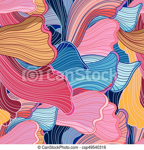 Seamless bright abstract wavy pattern - csp49540316