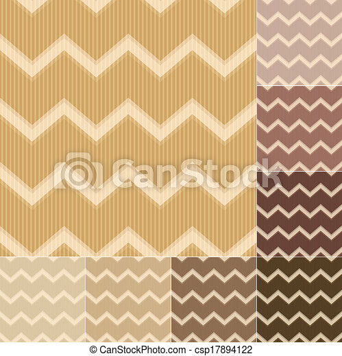 seamless brown chevron pattern - csp17894122