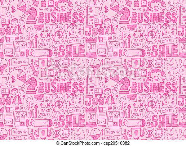 seamless business pattern - csp20510382
