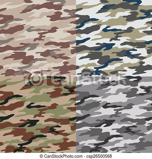 seamless camouflage pattern - csp26500568